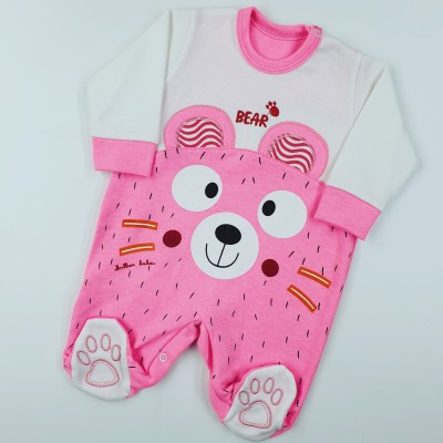 MİLLİON BEAR PEMBE TULUM 0-3-6-9 AY